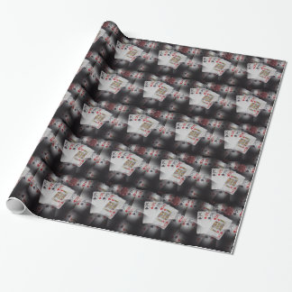 Playing Cards Quad Kings Layered Pattern, Wrapping Paper