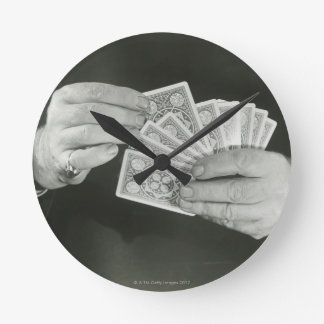 Playing Cards Round Clock