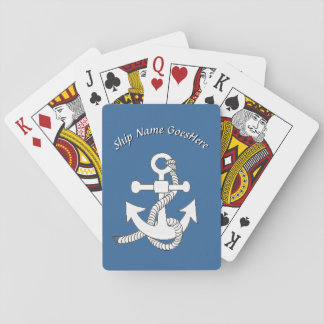 Playing Cards - Ship Anchor with Name