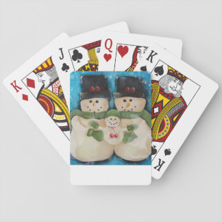 Playing Cards - Snowmen Family