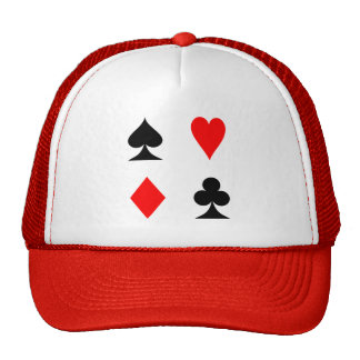 Playing Cards Suits Heart Diamond Spade Club Hat