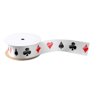 Playing Cards Suits Satin Ribbon