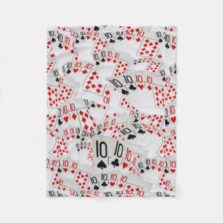 Playing Cards Tens In A Layered Pattern, Fleece Blanket