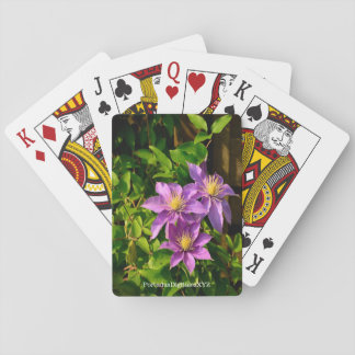 "Playing cards ""the Clematis Flower """