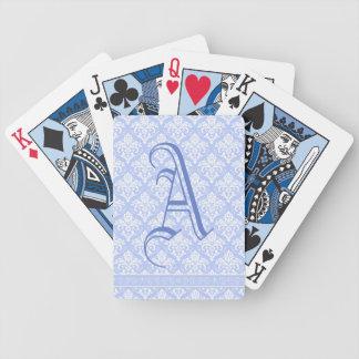 Playing Cards - Wedgewood Blue Damask