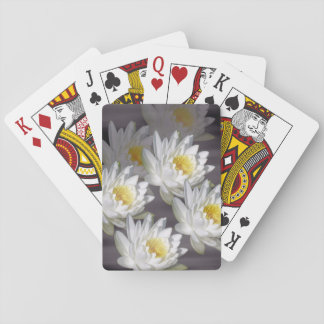 Playing Cards White Wild Water Lily Image