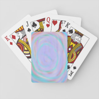 Playing Cards with a rainbow swirl pattern