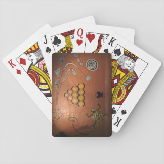 Playing Cards With African Graffiti Picture