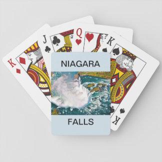 Playing Cards with an Air Shot of Niagara Falls
