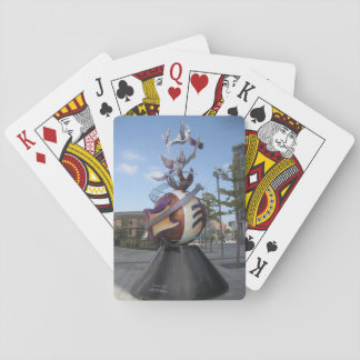 Playing Cards With Comic Guiltar Sculpture Picture