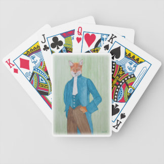Playing Cards with Dapper Fox Illustration