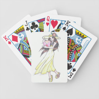 Playing Cards with Girl in Yellow Dress
