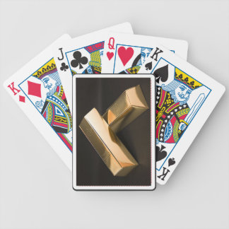 Playing Cards with Gold Bars