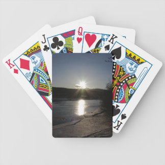 playing cards with photo of Yukon River