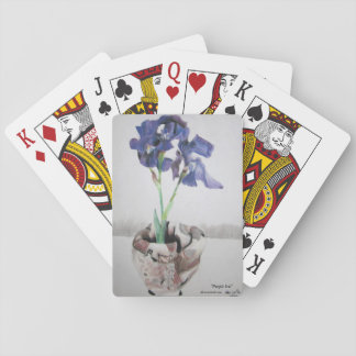 "Playing Cards with ""Purple Iris"" by ALarsenArtist"