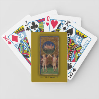 Playing Cards with Tarot Art The World