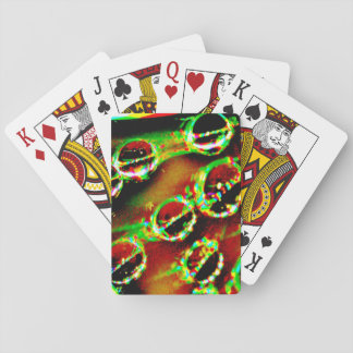 Playing Cards with Yellow Abstract Image