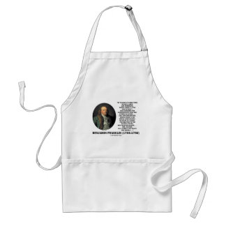 Playing Chess Caution Benjamin Franklin Quote Standard Apron