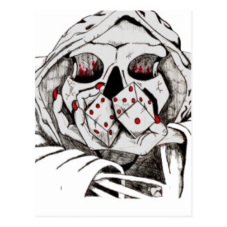 playing dice with the reaper postcard