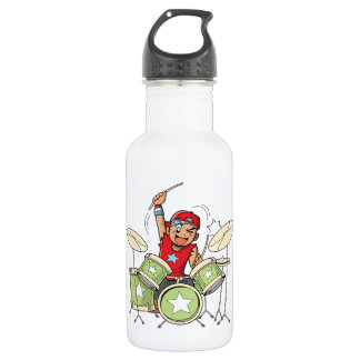 Playing Drums 532 Ml Water Bottle