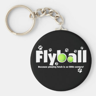 Playing Fetch is 20th Century Flyball Key Ring