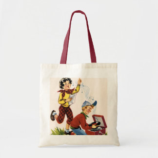 Playing Fifties Records Canvas Bags