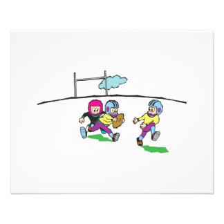 playing football kids 11.5 cm x 14 cm flyer