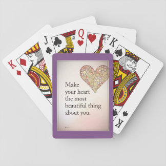 Playing games Cards of Heart of Love