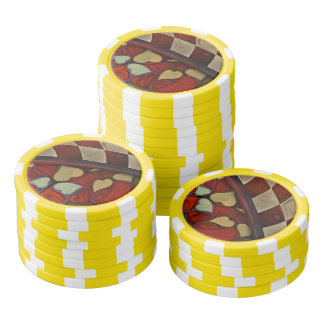 Playing Hide n Seek with the Queen of Hearts Poker Chips