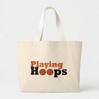 Playing Hoops Jumbo Tote Bag
