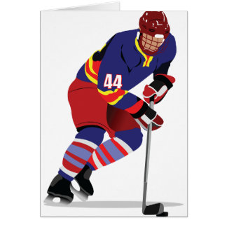 Playing Ice Hockey Greeting Cards