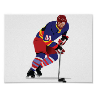 Playing Ice Hockey Poster