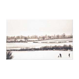 Playing in the Snow Gallery Wrap Canvas