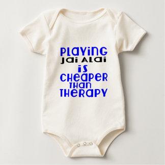 Playing Jai Alai Cheaper Than Therapy Baby Bodysuit