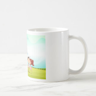 playing kids basic white mug