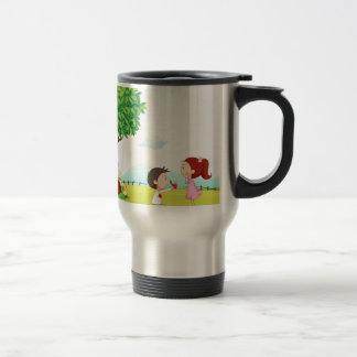 playing kids stainless steel travel mug