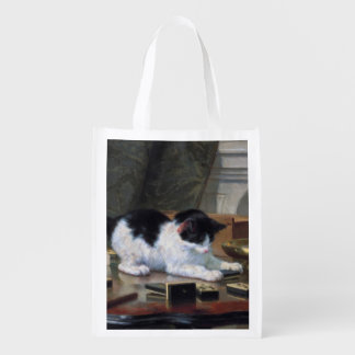 Playing Kitten by Henriëtte Ronner-Knip Reusable Grocery Bag