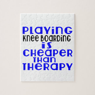 Playing Knee Boarding Cheaper Than Therapy Puzzle