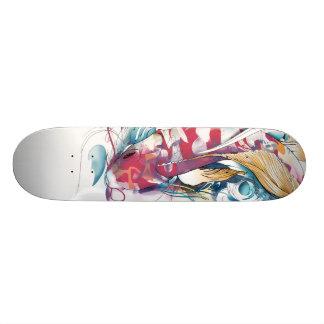Playing Koi Skate Board
