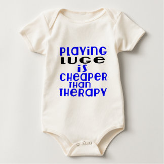 Playing Luge Cheaper Than Therapy Baby Bodysuit