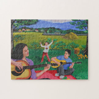 Playing Melodies Under the Shade of Trees Puzzle