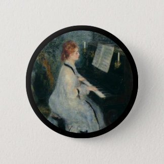 Playing Piano by Candlelight 6 Cm Round Badge