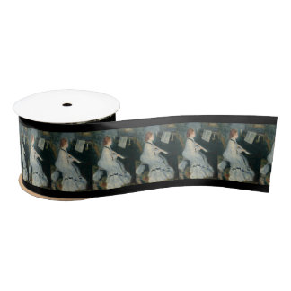 Playing Piano by Candlelight Satin Ribbon