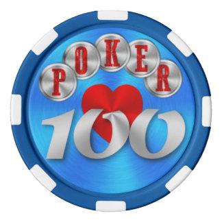 Playing poker chip 100