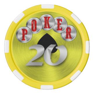 Playing poker chip 20