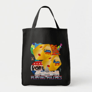 Playing-Politics-V-1 Grocery Tote Bag