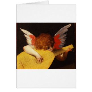 Playing putto (Musician Angel) by Rosso Fiorentino Greeting Card