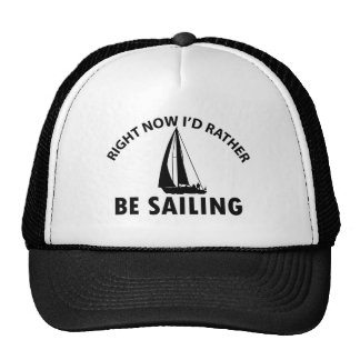 Playing  sailing trucker hats