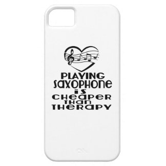 Playing Saxophone Is Cheaper Than Therapy Barely There iPhone 5 Case