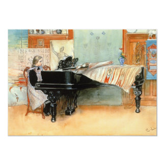 """Playing Scales 1898 5"""" X 7"""" Invitation Card"""